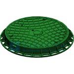 Люк зеленый с креплением 750х80
